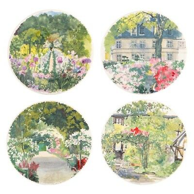 NEW Gien Paris a Giverny Canape Plate Set 4pce