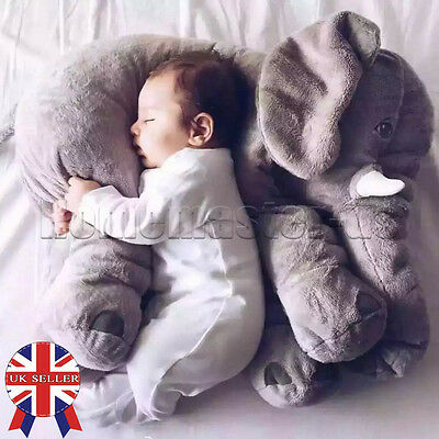Baby Children Gift Long Nose Elephant Doll Soft Plush Stuff Toys Lumbar Pillow