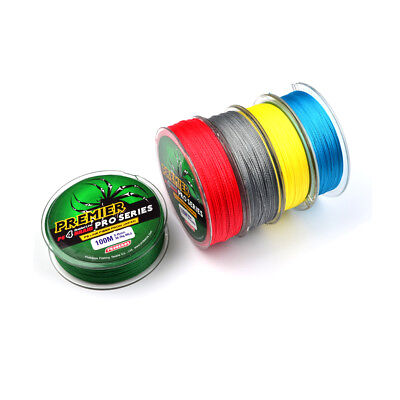 4 Stands Super Strong Dyneema Spectra Extreme PE Braided Sea Fishing Line 100m