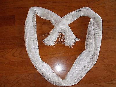 Justice Girl's Shimmery White Iridescent Scarf- Used Once