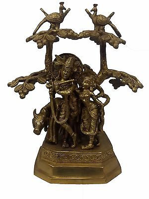 Statue Of  Radha Krishna With Tree Handicrafts Product By Bharat Haat™BH04512