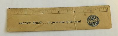 6 Inch Ruler,  Paperboard,  Buick Autos, 1950's