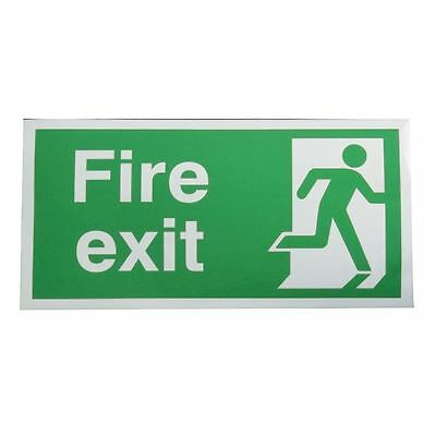 Safety Sign Fire Exit Running Man Right 150x300mm Self-Adhesive [SR71188]