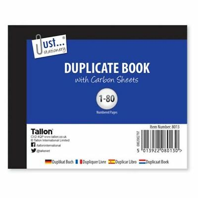 Blank Half Size Ruled Duplicate Book Numbered Cash 1 -80 NEW Receipt (loc.D18)