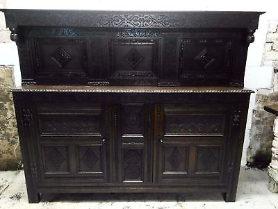Antique Carved Jacobean Style Victorian Court Cupboard Free local delivery