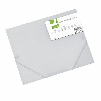 Q-Connect A4 Clear Elasticated Folder KF02315 [KF02315]