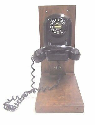 Antique Automatic Electric Model 50 Bakelite Monophone Wall Mount Telephone