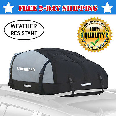 15Cubic Ft Car Van SUV Roof Top Cargo Rack Waterproof Luggage Travel Bag Carrier