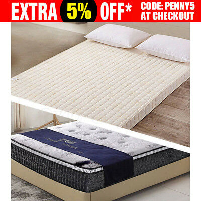 Cool GEL Memory Foam Mattress Topper Bamboo Fabric Cover Ventilate Soft 8/5cm OZ