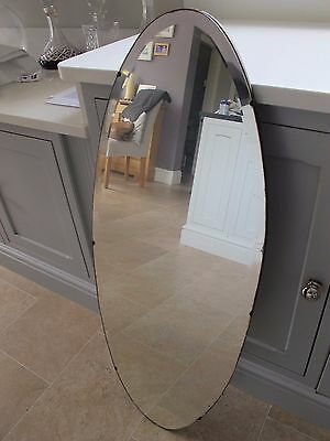 Vintage Large Oval Mirror Art deco manchester