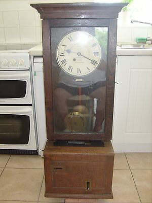 This Is The Rolls Royce Of Time Recorders A Gledhill-Brook  Clocking In Clock!!!