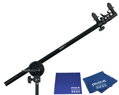 Phot-R Collapsible Reflector Holder Boom Arm Grip Stand Microfibre Chamois Cloth