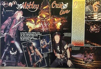 2 german clipping MÖTLEY CRÜE LIVE N. SHIRTLESS ROCK BOY BAND BOYS GROUP VINTAGE
