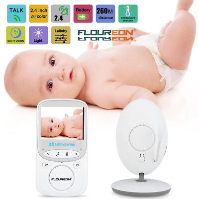 Floureon Secure 2.4'' Digital Wireless Video 2.4Ghz Baby Monitor 2 Way Talk Baby