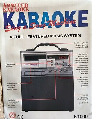 Retro Arbiter RECORDABLE Karaoke Machine K1000 / P.A. System With 2 Microphones!