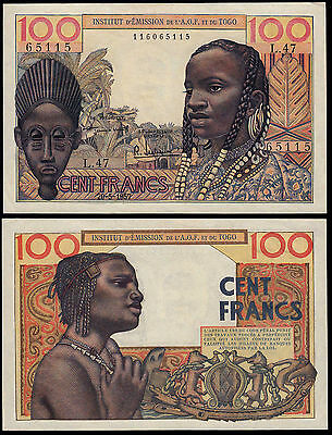 French West Africa 100 Francs (P46) 1957 Gef