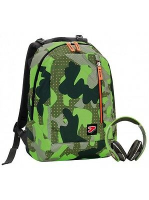 Zaino Seven The Double Con Cuffie Color Camouflage