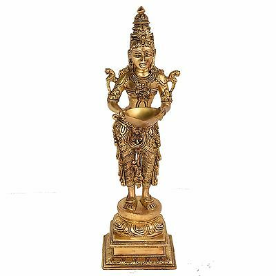 Decorative Standing Lady  Oil Lamp handicrafts product by Bharat Haat™BH05305