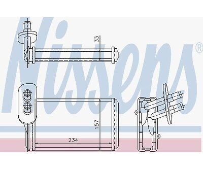 Nissens 73962 Heat Exchanger, Interior Heating