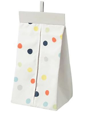 IKEA Nappy Stacker Dromland  30x52x22cm Children Kids White/Multicoloured Dots