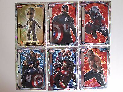 Marvel Missions Trading Card Game Limited Edition & Super Holographic Foil Cards