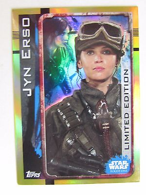 Star Wars Rogue One LESA Jyn Erso Limited Edition Foil Trading Card Topps Disney