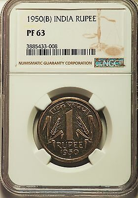 1950 Complete Set -  REPUBLIC OF INDIA Proof NGC PF 63-65