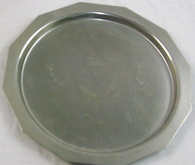Old Hall Stainless Steel Circular Round Dodecagon Shaped Serving Tray