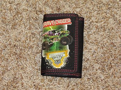 Monster Jam Tri-Fold Wallet Youth Boys Grave Digger Black
