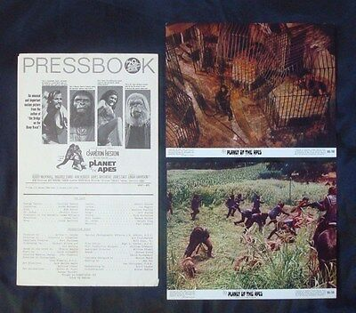 Orig 1968 *PLANET Of The APES* Movie Paper PRESSBOOK 8x10 Lobby Cards LC's 68/50