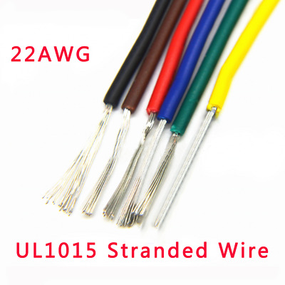 22AWG UL1015 Stranded Wire Automotive Equipment Hookup Cable 17/0.12TS 600V