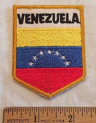 Venezuela National Flag Colors Souvenir Embroidered Patch Badge