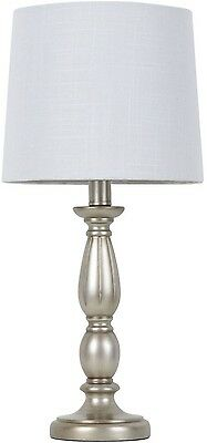 Better Homes And Gardens Antique Silver Turned Resin Table Lamp