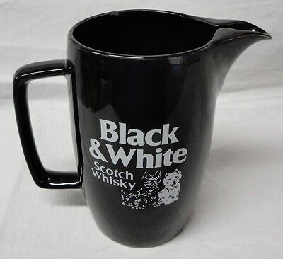 "Wade Regicor Porcelain ""black & White"" Scotch Whisky (Scotty Dog) Pub Jug 1980+"