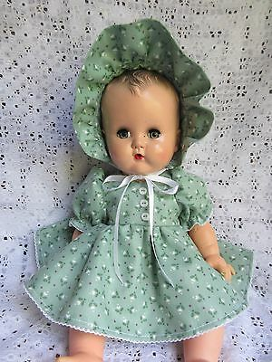 "3 Piece  Dress Set For 14"" Vintage Ideal Betsy Wetsy Baby Doll"