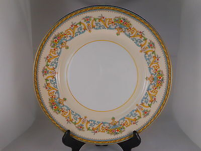 Beautiful Bone China Dinner Plate, John Aynsley Henley Pattern, Filigree Flowers