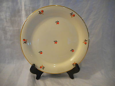 "Salad Plate (8""), Homer Laughlin China, Cardinal Pattern, Vintage, Red Orange"