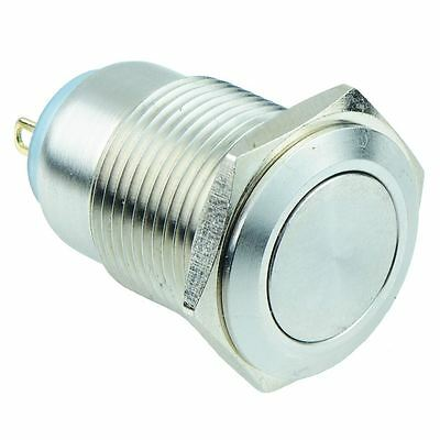 On-Off 16mm Metal Push Button Switch SPST IP67