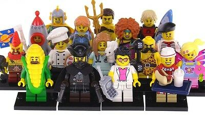 LEGO Minifigures Series 17 71018 Dwarf Highwayman Surfer Corn Cob Hot Dog & More