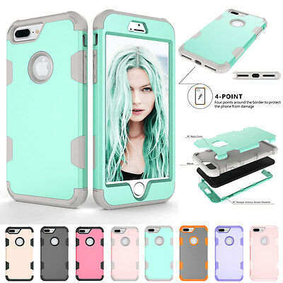 """Shockproof Rugged Hybrid Hard Protective Phone Case Cover For iPhone 7 Plus 5.5"""""""