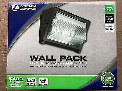 NEW LITHONIA LIGHTING Security Light 150W Bronze 207KV7 Metal Halide Wall Pack