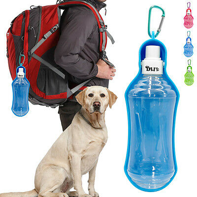 Portable Dog Travel Water Bottle Pet Cat Foldable Drink Bowl Feeder 250ml/500ml