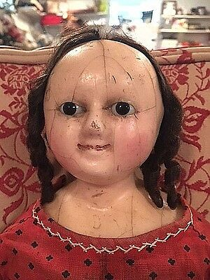 "antique doll mad alice wax over english slit LARGE 24"" beautiful victorian child"