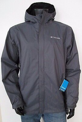 Mens Columbia S-M-L-XL-XXL Timber Pointe Waterproof Hooded Rain Jacket - Gray