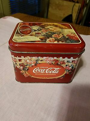 Collectible Vintage Coca-Cola Tin Can Rectangle -Coke- In Great Condition