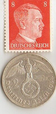 -*micro  COLLECTION  of  WW2  *US  and   *german  SILVER  EAGLE  coin / Stamp's+