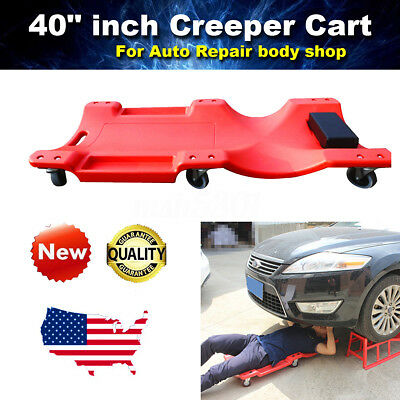 Plastic Rolling Creeper 40-Inch Garage Shop Automotive Mechanic Repair Tool