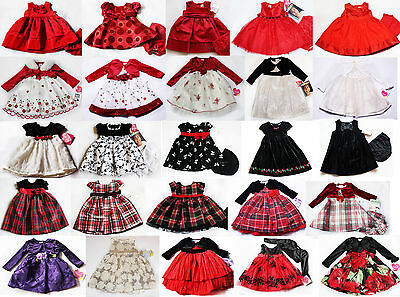 NWT Girls Dress NEW Holiday Xmas Birthday Party Wedding Easter 3 6 9 24m 2T 3T 4