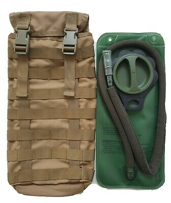 Tas 3699 -  Molle Hydration Pouch Khaki + Free!! 2Lt Wide Mouth Bladder Mil Spec