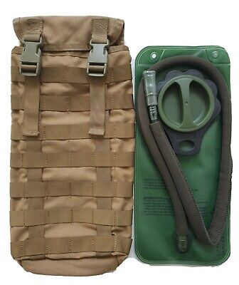 Tas Hydration Pouch 3699 Molle Khaki + Free!! 2Lt Wide Mouth Bladder - Mil Spec